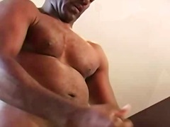 ebony, skinny, bear, masturbation