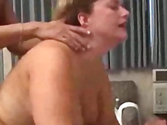 granny, threesome, shaved, blowjob,