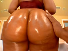 Curvy kiwi oiled then fucked