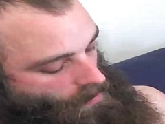 Two bearded gay dudes are sucking hard dick and getting fucked
