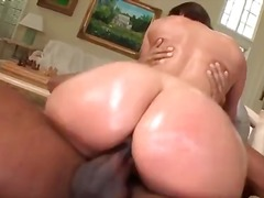 big cock, brunette, dp, milf,
