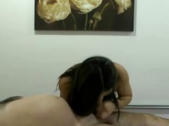 reality, brunette, asian, handjob
