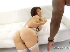 Luxury interracial butt gangbang