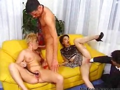 oral, mature, blonde, cumshot