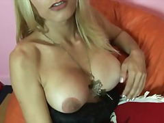 blonde, natural boobs, solo,