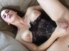 She strokes and cums f... - aShemaleTube