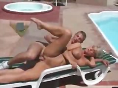 pussy, cumshot, outdoors, lick, boobs, mom,