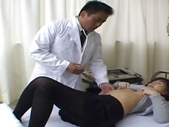 Asian doctor and asian...