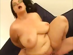fat, blowjob, bitch, couch, girls, cumshot