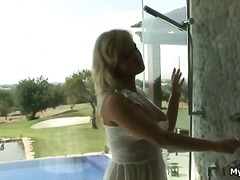 Super hot blond babe e... video