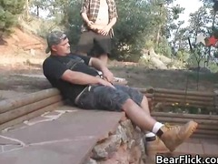 bear, outdoors, oral, rimming