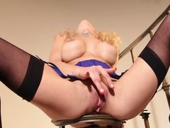 PinkRod Movie:Curly blonde babe lou lou is