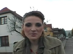 Brunette shows her pus... video