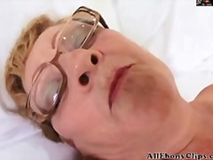 Granny in glasses gets bbc