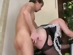 Russian mom gives ass and cleans ever...