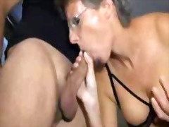 Sophie, french mature dped in stockin...