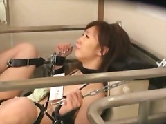 H2porn Movie:Bound and fucked on public toi...