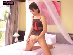 shemale, ladyboy, asian, solo, tease