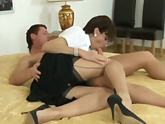 Xhamster Movie:British nylon lady (blowjob-fo...