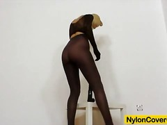 Thumbmail - Slutty blonde's nylon ...