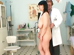 lady, old, fat, pussy, hairy, exam, mom