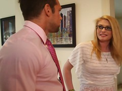 Hung bloke cheats onto housewife about his horny nerdy babysitter allie james