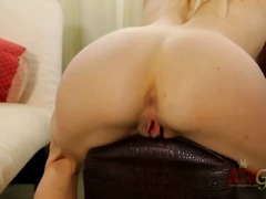 PinkRod Movie:Blonde bella bends spreads her...