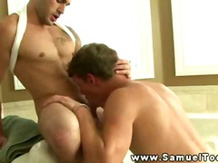 Stud gets his cock suc...
