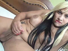 Shameless tranny karla shows her body