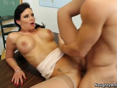 Fancy brunette has a t... video