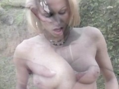 Outdoor interracial ba...