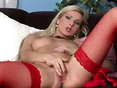 mature, solo, blonde, pussy,