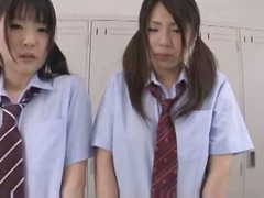 Asian schoolgirls in nylon group sex