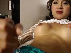 asian, lingerie, masturbation, shemale