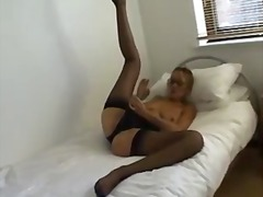 masturbation, stockings, stocking,
