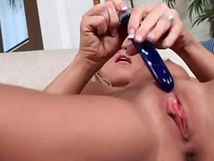 pussy, work, natural, blonde, solo, toys, masturbation, boobs, mature, monster, school, tits