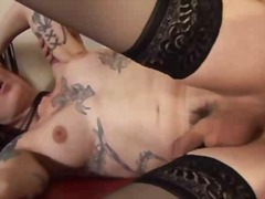 tattoo, guy, cumshot, stockings, college