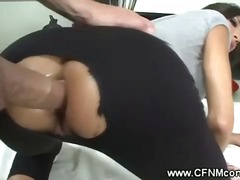 Cfnm babes love deep anal action