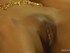 Couple arousing vagina massage