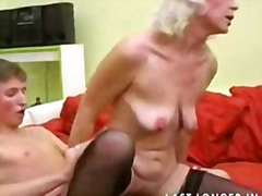 Granny with saggy tits gets fucked pa...