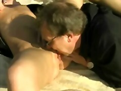 Outdoor sex with an ol...
