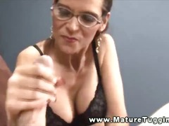 Horny milf wants a handfull of his di...