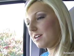 Erotic initiate blonde likes to make it up to the stranger