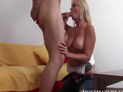 blonde, mom, big cock, milf, big ass,