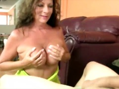 Naughty milf loves the feeling of his...