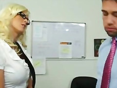 boss, lick, secretary, big, blonde
