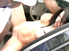 cougar, fucking, woman, cock, outdoors