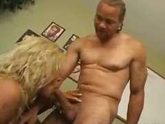 Mature blonde in stock... video