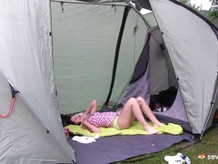 See: Teen girl in her tent