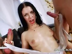 threesome, interracia, dick, cock, anal